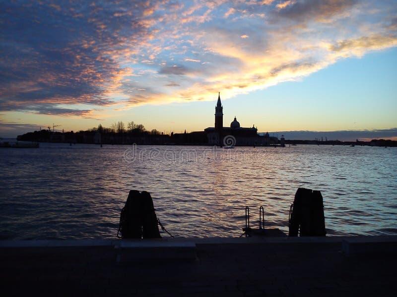 Tramonto a Venezia fotografia stock