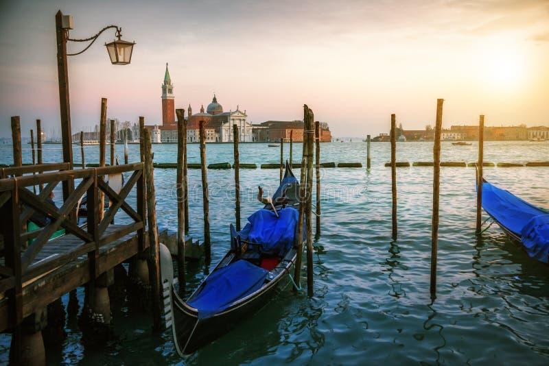 Tramonto a Venezia fotografia stock libera da diritti