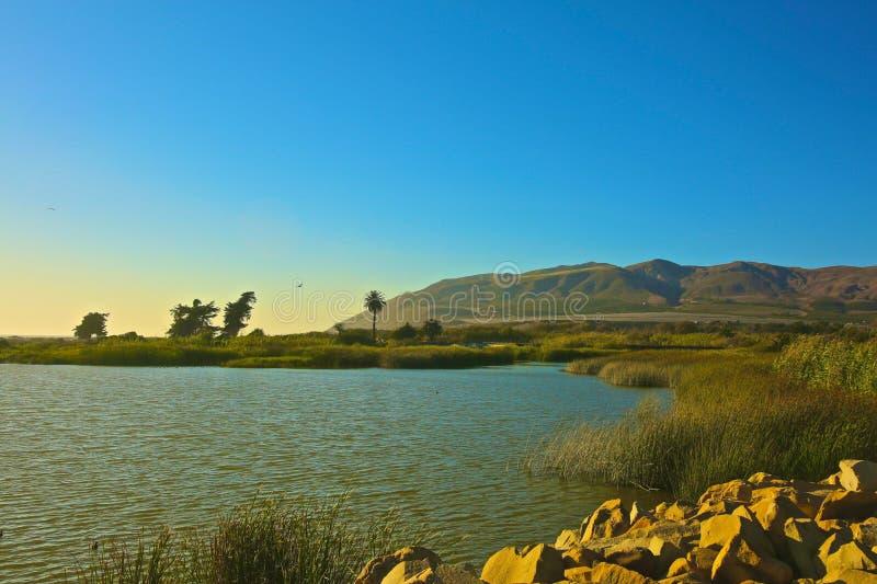 Tramonto Ventura California immagine stock libera da diritti