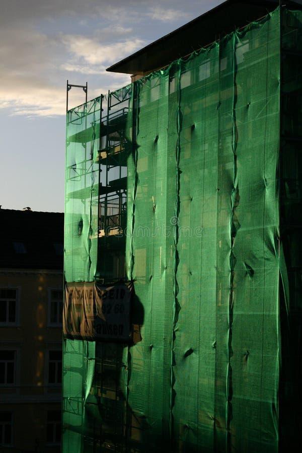 Tramonto verde fotografie stock libere da diritti