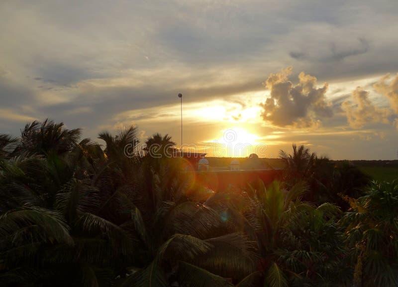 Tramonto vicino a Soliman Bay fotografia stock