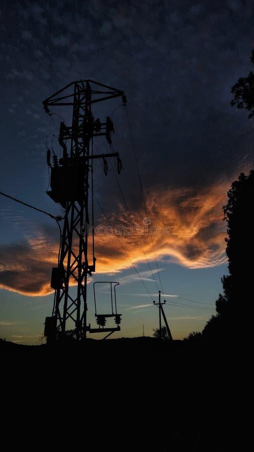 tramonto a Viladrau immagini stock libere da diritti
