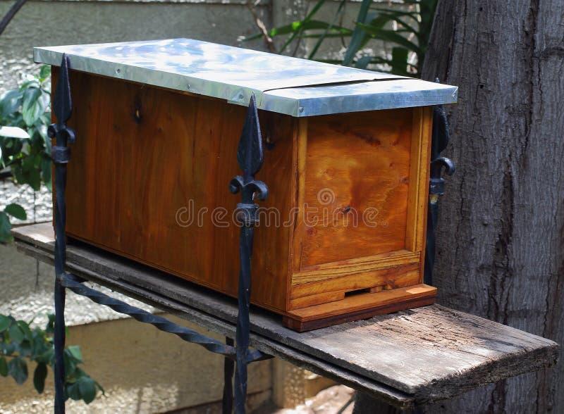 Trampa del enjambre para las abejas de la miel imágenes de archivo libres de regalías