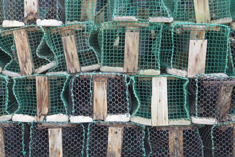 Trampas de la pesca en el puerto de Ribadesella fotografía de archivo libre de regalías