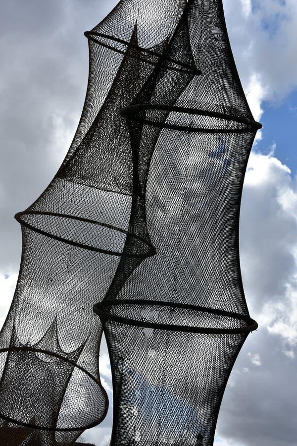 Trampas de los pescados imagen de archivo