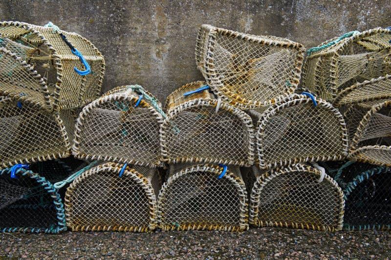 Trampas de los pescados foto de archivo libre de regalías