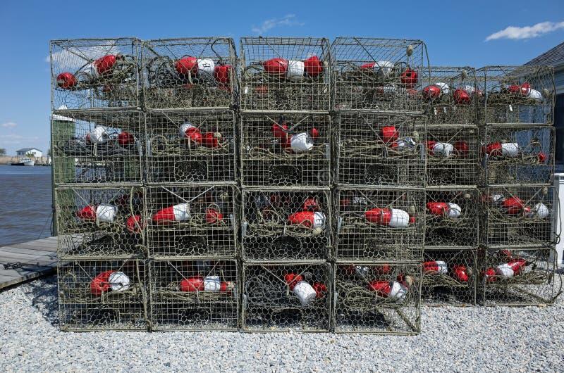 Trampas del cangrejo imagen de archivo