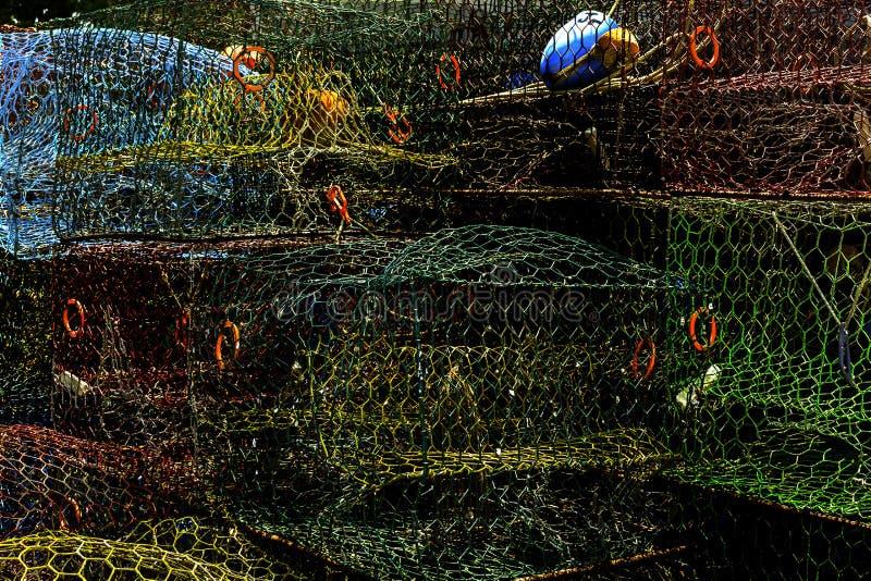 Trampas del cangrejo foto de archivo