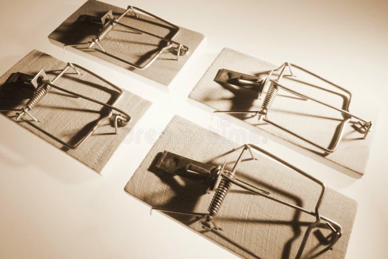 Trampas del ratón fotos de archivo