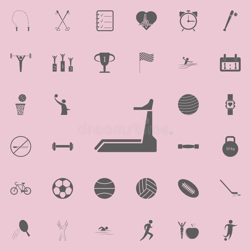 Trampkvarnsymbol Detaljerad uppsättning av sportsymboler Högvärdigt kvalitets- tecken för grafisk design En av samlingssymbolerna stock illustrationer