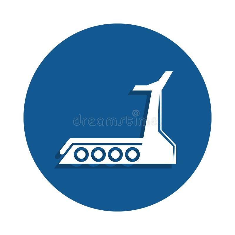 Trampkvarnsymbol i emblemstil En av sportsamlingssymbolen kan användas för UI, UX royaltyfri illustrationer