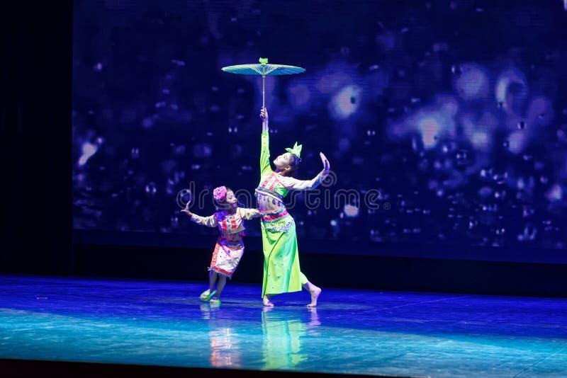 Trample on the rain- Beijing Dance Academy grading test outstanding children`s dance teaching achievement exhibition Jiangxi. Sponsored by the Beijing Dance royalty free stock image