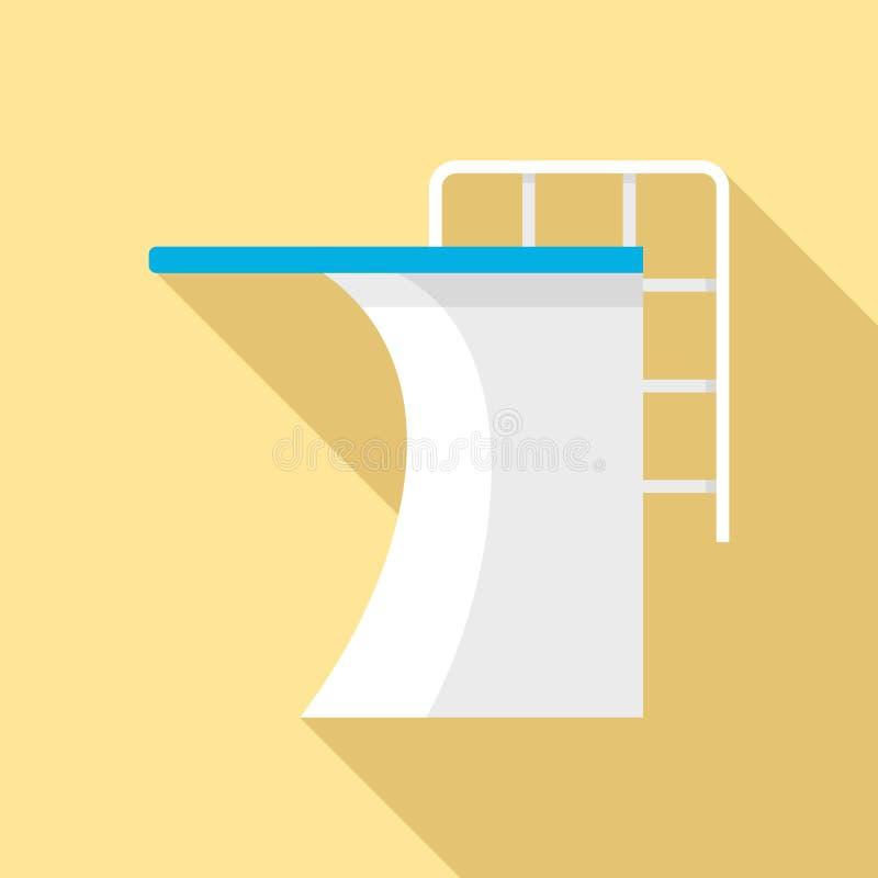 Trampolina basenu ikona, mieszkanie styl royalty ilustracja