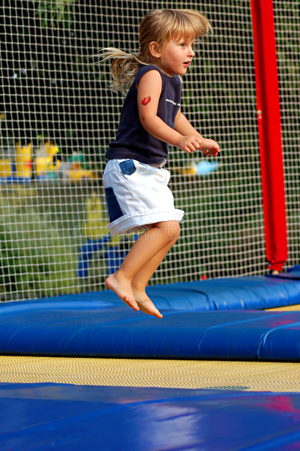 At Trampoline Royalty Free Stock Photos