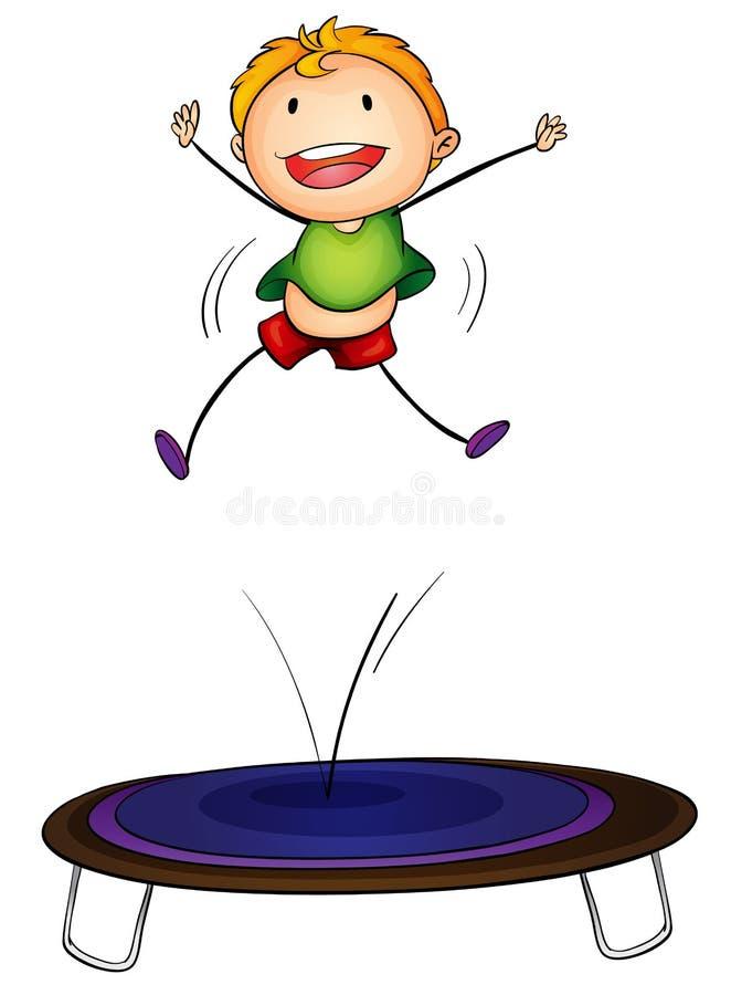 Trampoline dzieciak royalty ilustracja