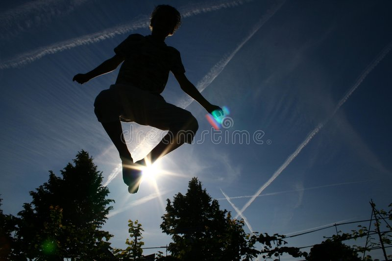 Trampoline jump royalty free stock image
