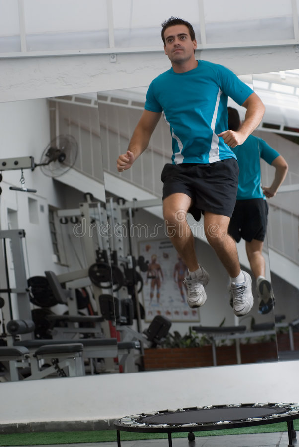Trampoline Workout royalty free stock photos