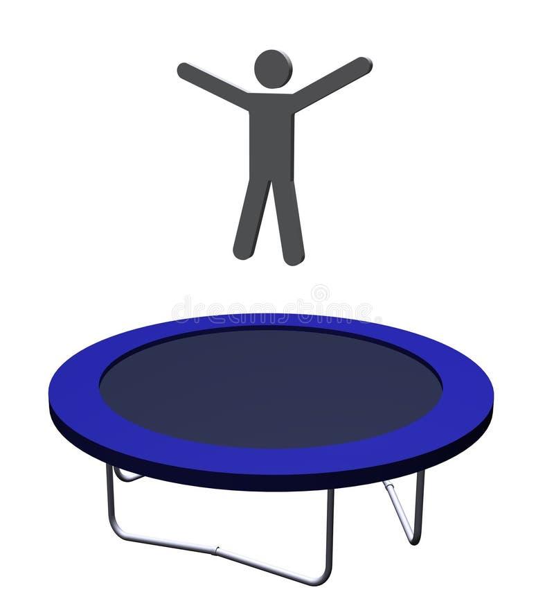 trampolining 皇族释放例证