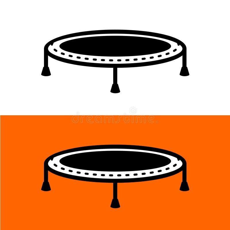 Trampolino per il salto del simbolo nero semplice royalty illustrazione gratis
