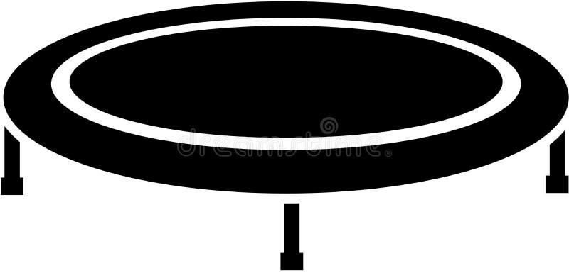 Trampolinsymbol vektor illustrationer