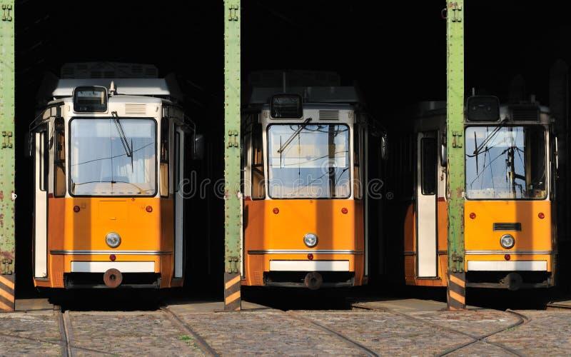 Trams in huisvesting royalty-vrije stock foto