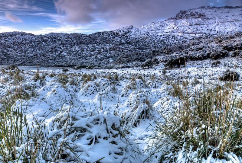 Download Tramuntana Mountain With Snow Stock Photo - Image of cold, clearing: 12258820