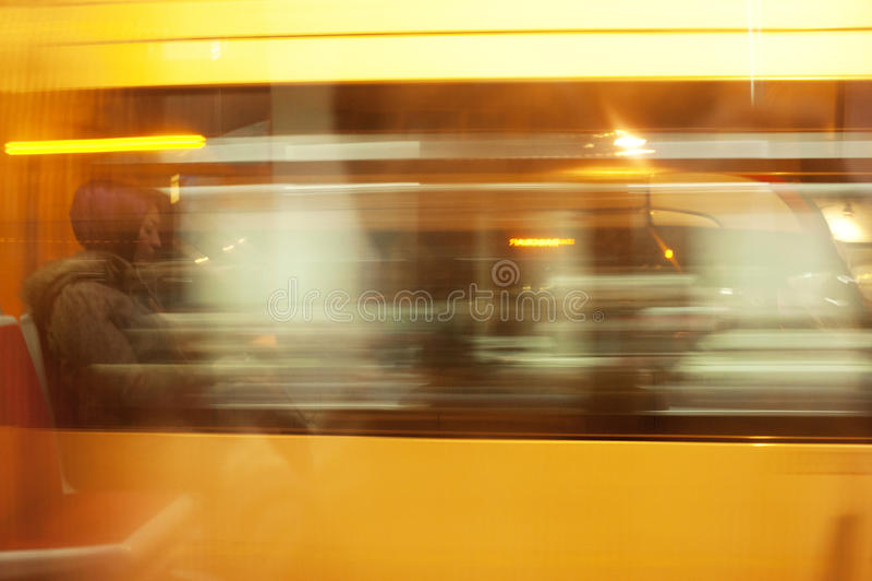 tramvay摇摄在伊斯坦布尔 库存照片