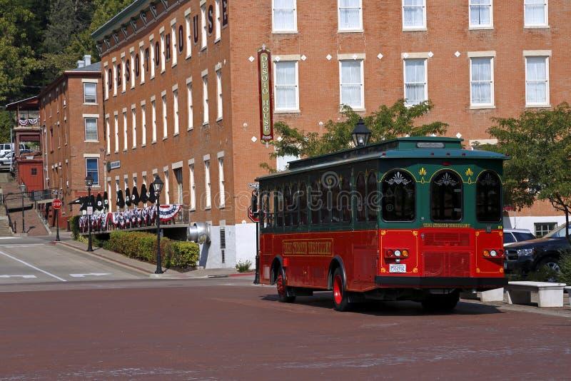 Tramwaj i w Galenie Domowy deSoto Hotel, Illinois zdjęcie stock