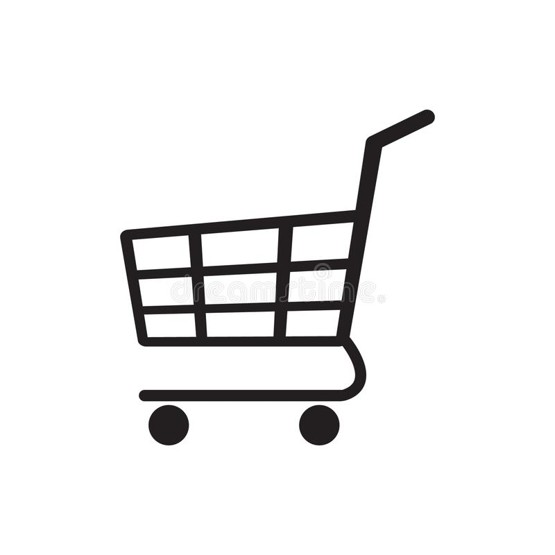 Tramwaj ikona, wózek na zakupy ikona ilustracji