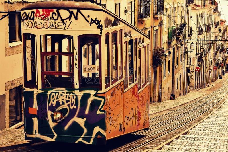 Tramwaj w Lisbonne obraz royalty free