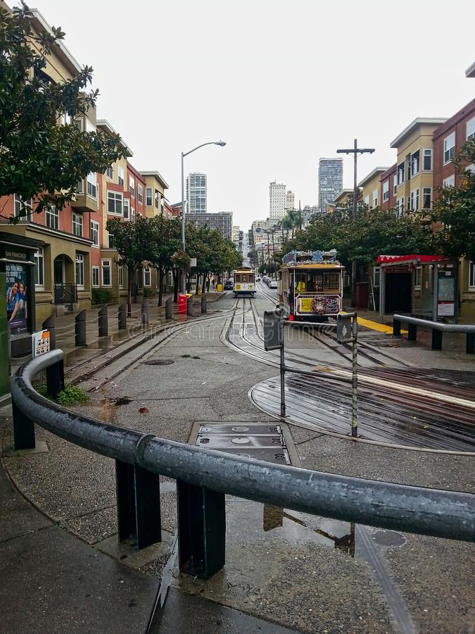 tramwaj w San Francisco fotografia stock