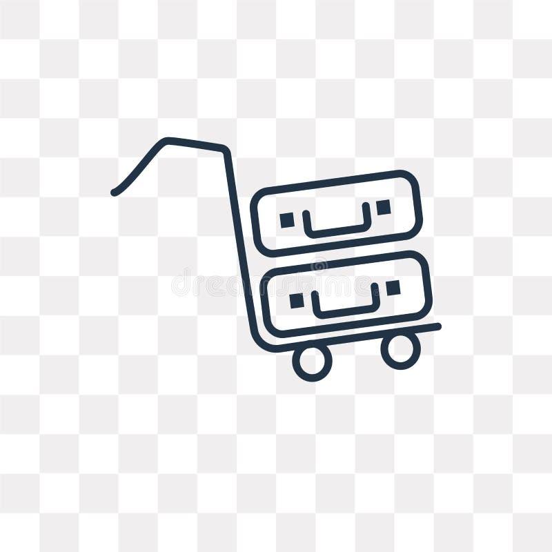Tramwaj wektorowa ikona odizolowywająca na przejrzystym tle, liniowy T ilustracja wektor