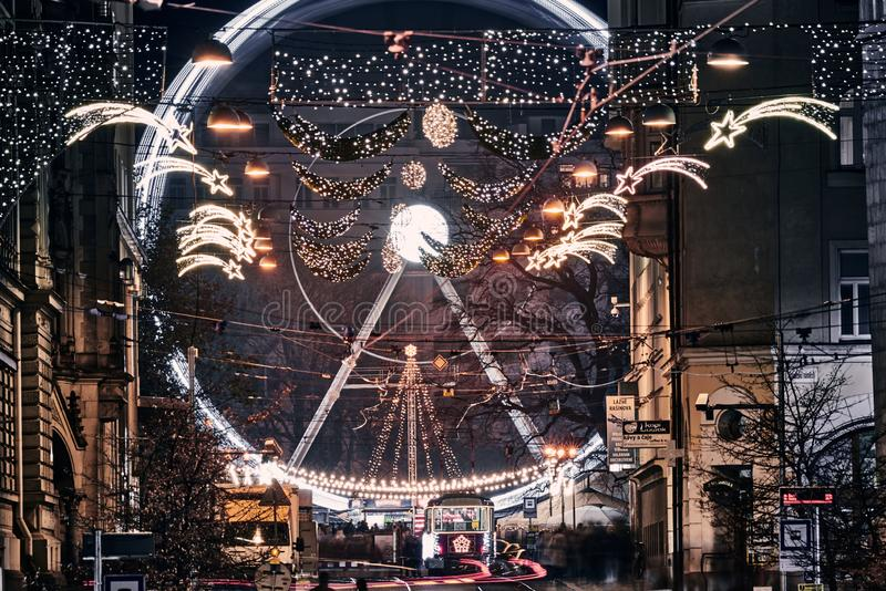 Tramwaje w Brnie 2019 zdjęcie royalty free