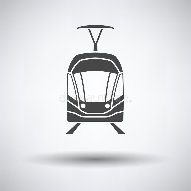 Tramwajowej ikony frontowy widok ilustracji