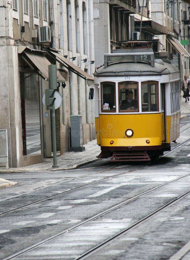 tramwajowy kolor żółty zdjęcia stock