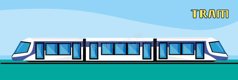 Tramwajowy Nowożytny miasto transport publiczny ilustracji