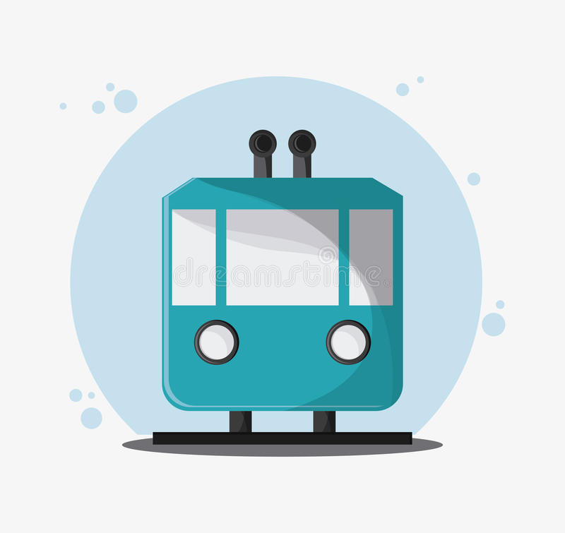 Tramwaju transportu pojazd, wektor royalty ilustracja