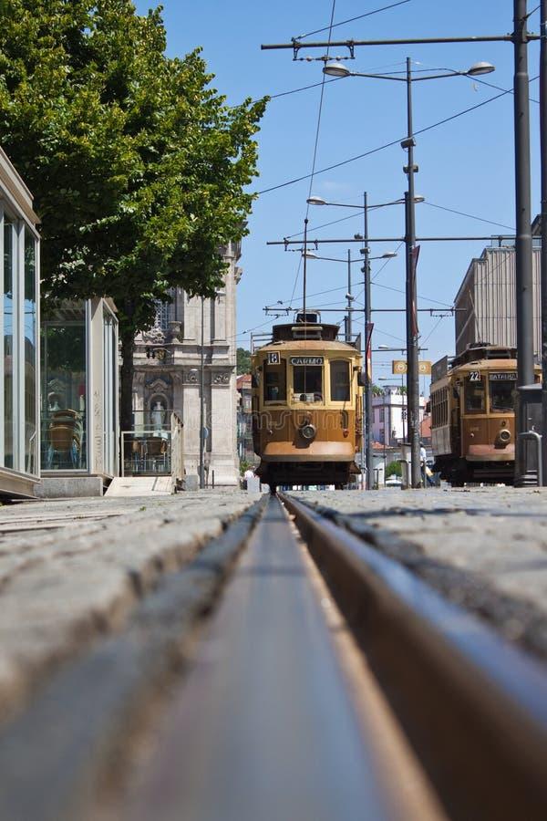 Tramway à Porto, Portugal photos stock