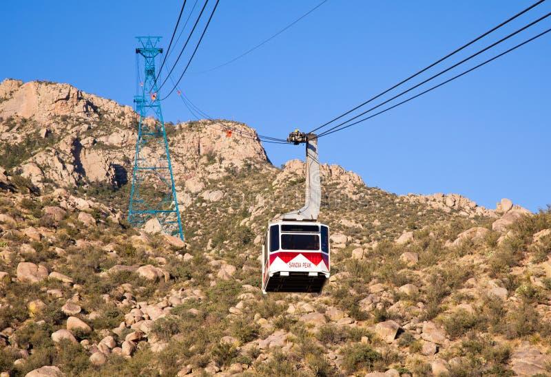 Tramway Сандия пиковый стоковое фото rf