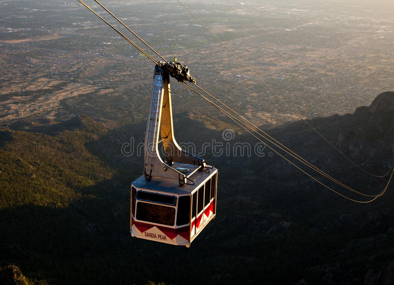 Tramway Сандия пиковый стоковая фотография