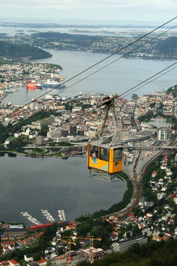 Tramway aéreo de Bergen - Ulriken fotos de stock