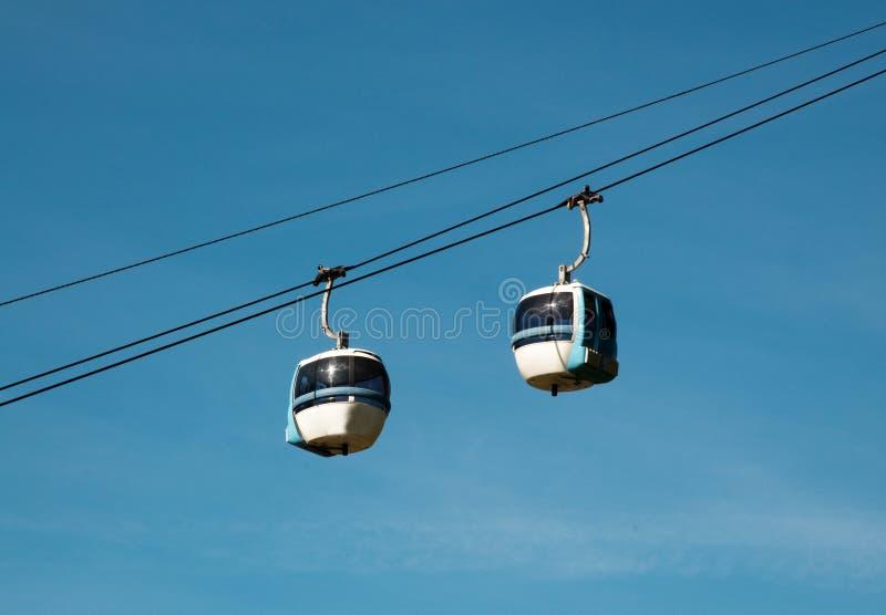 Tramway aéreo (teleférico) - Cermis, Italy fotos de stock