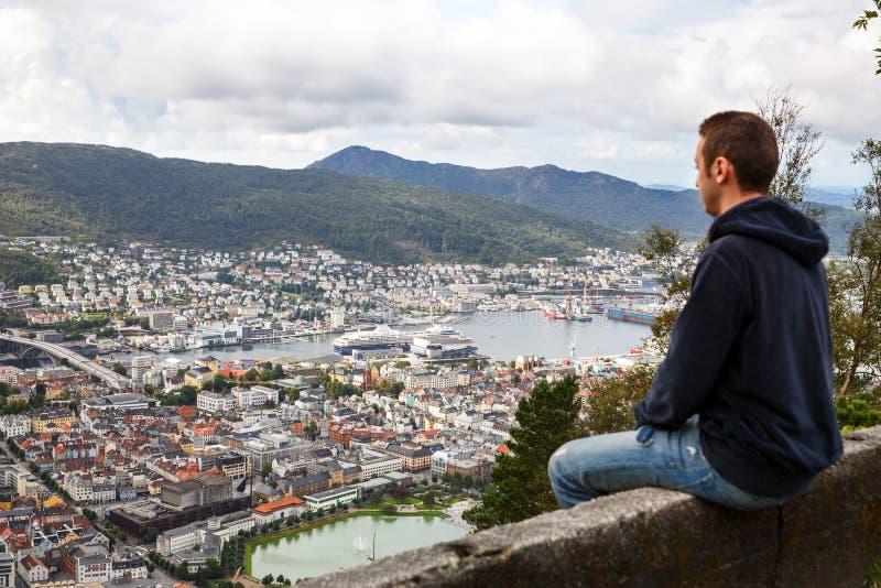 Tramway aérienne de Bergen - Ulriken photographie stock libre de droits