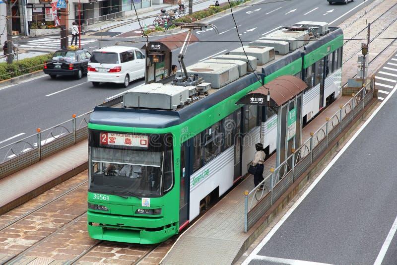 Tramway d'Hiroshima images stock