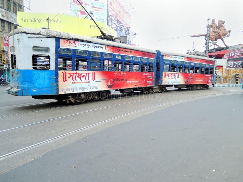 Tramway dans Kolkata, Inde photos stock
