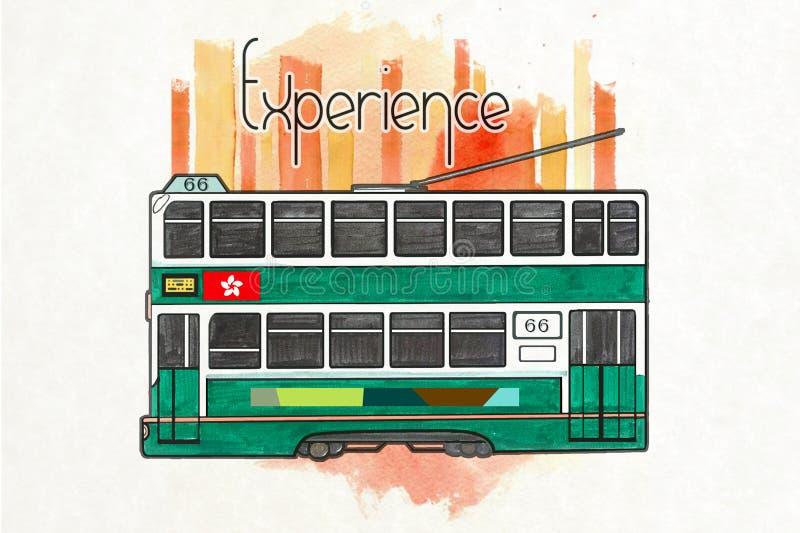 Tramway de Hong Kong images stock