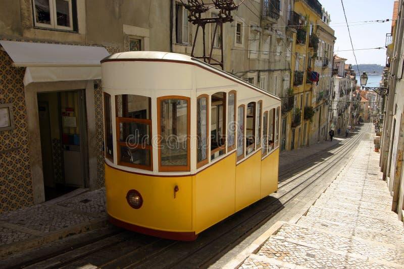 Tramway de Lisbonne photos stock