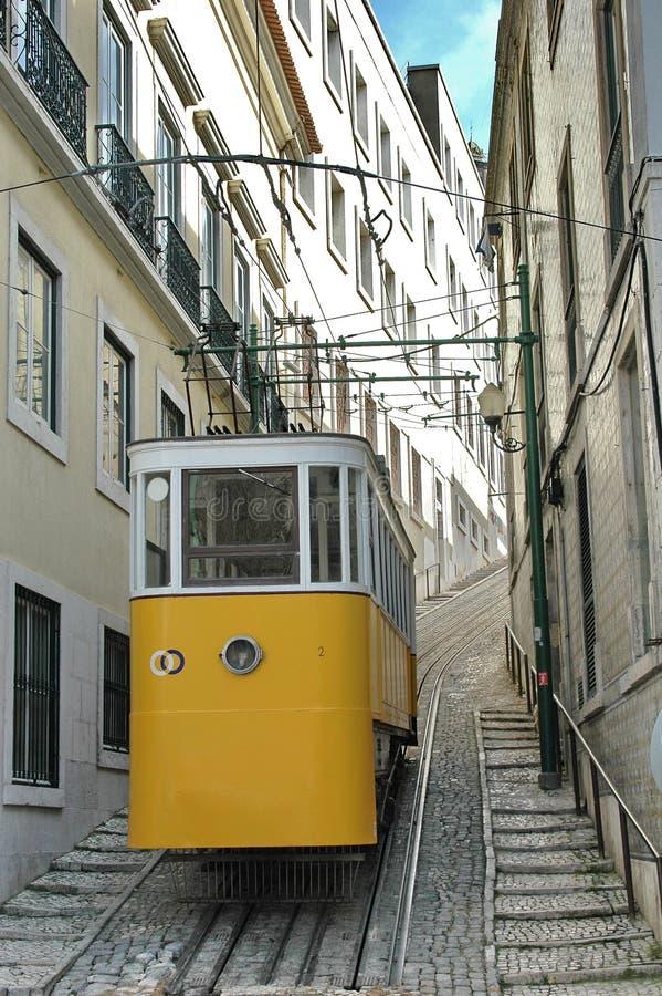 Tramway de Lisbonne image libre de droits