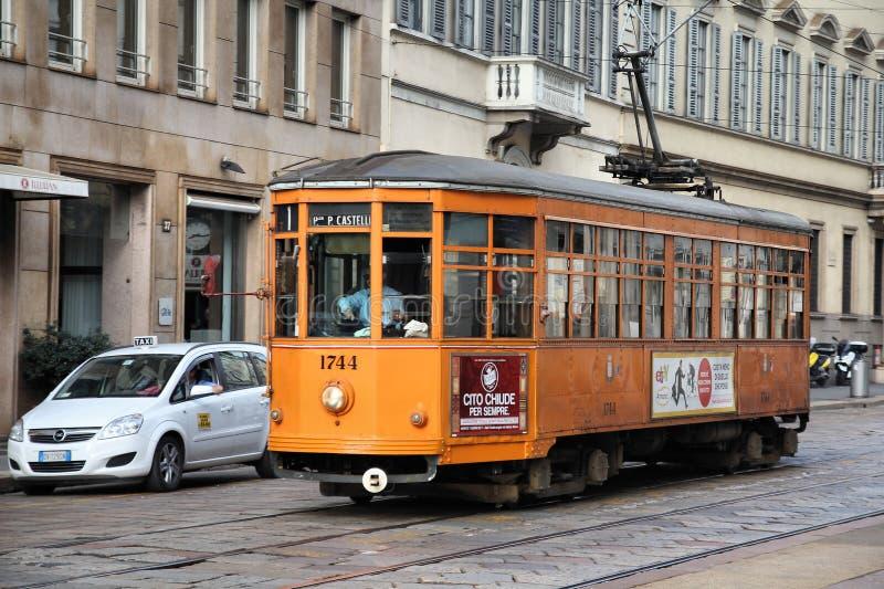 Tramway de Milan images libres de droits