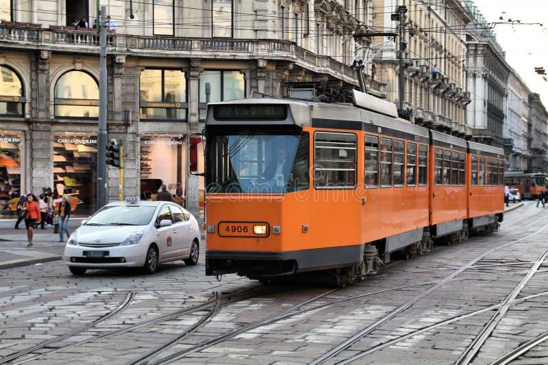 Tramway de Milan photo stock